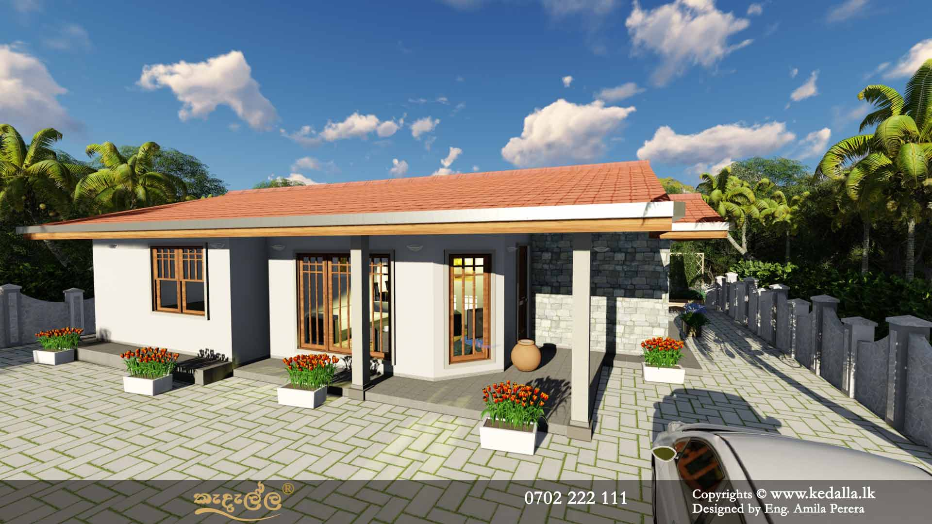 4 Bedroom Single Story House Plans in Sri Lanka - Designed by archtects in Colombo