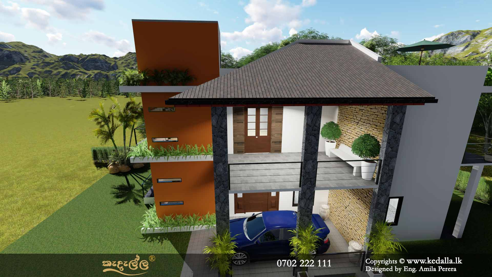 4 Bedroom Two Story House Plans in Sri Lanka - Designed by archtects in Kandy