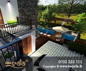 4 Bedroom House Design with back yard garden designed by top architects in Kandy Sri Lanka