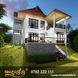 Luxury 4 Bedroom house plan for a hillside land designed by architectural firm in Kegalle Sri Lanka