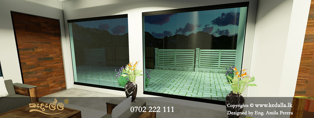 Two-story 4 bedroom house plans with home office & garage in Colombo Sri Lanka