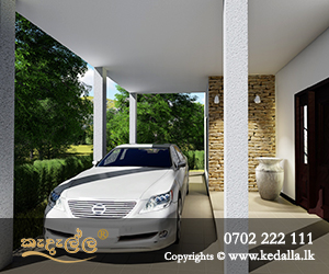Modern house builders in Kandy designed latest covered front car porch home plans in sri lanka