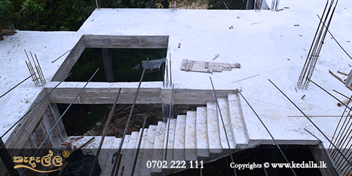 House contractors in sri lanka done concrete Stairs Landing Slabs for providing access to basements upper floors