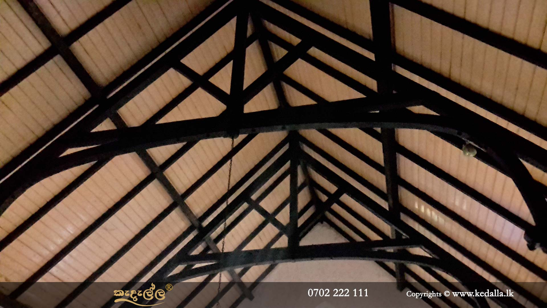 Building construction firm in Kandy Sri Lanka constructed gable roof that provide more space for attics