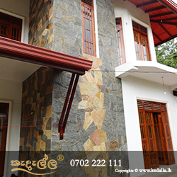 Construction pioneers in the construction industry use natural and cultured stone artistically placed in home fronts