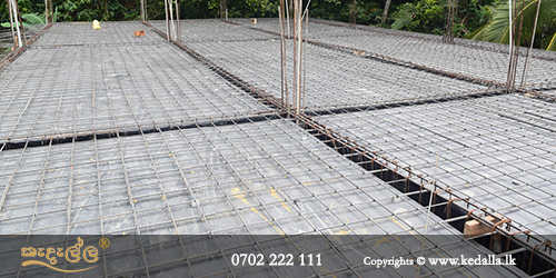 House contractor is completing reinforced concrete slab which is a crucial structural element and provide flat surfaces