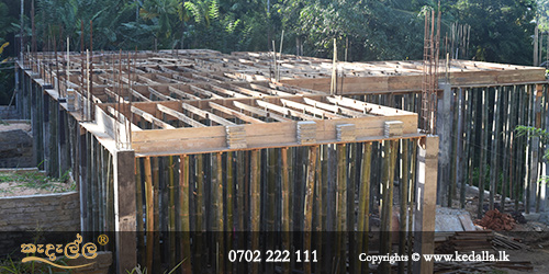 House design and build contractors in sri lanka use traditional timber formwork for concrete slabs