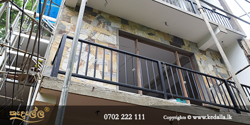 Company building residential apartment has completed an outdoor steel handrailing for exterior balcony