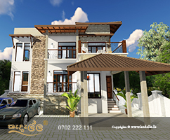 Best house designers in Sri Lanka done home with drain system presented in the master plan