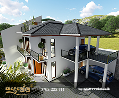 Well-Ventilated/Cross Ventilated Luxury House Plans done by best House Planners in Sri Lanka