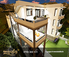 Architect designed brand new three story modern box type house plans with photos Kandy Sri lanka