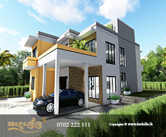 Box Type Two Story House Plans in Kandy Sri Lanka to build on uneven, rugged terrain