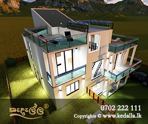 Modern luxury box type home plan designed by best house plan designers in Kandy sri lanka