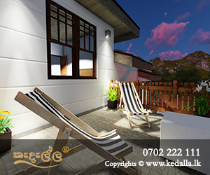 Veranda designed by leading architect in Kandy Sri Lanka has an important function in the garden
