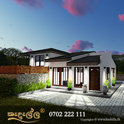 Single Story House Plan Designed by Architects in Matale Sri Lanka