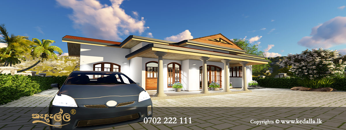 Top architect designed small economical to build Single Story Small Home Plans in Kandy Sri Lanka