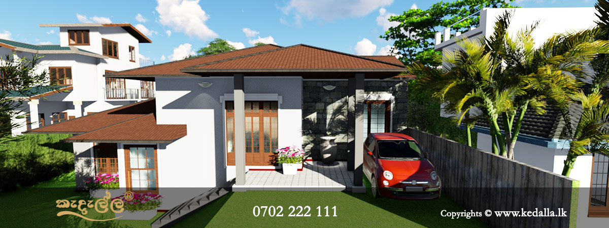 An architects in kandy designed single story small house plan