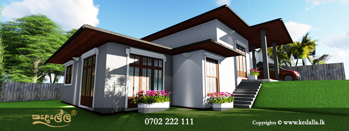 Small Home Plans single story designed by chartered architect in kandy Sri Lanka