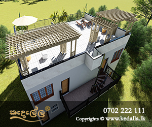 Smart modern three story terraced house plans with lovely modern roof terrace in Kandy Sri Lanka