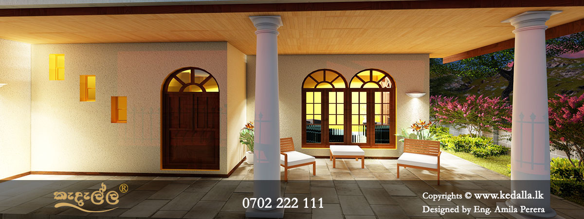 Front side large Open varandha of two story home design perfect for relaxing and outdoor entertaining