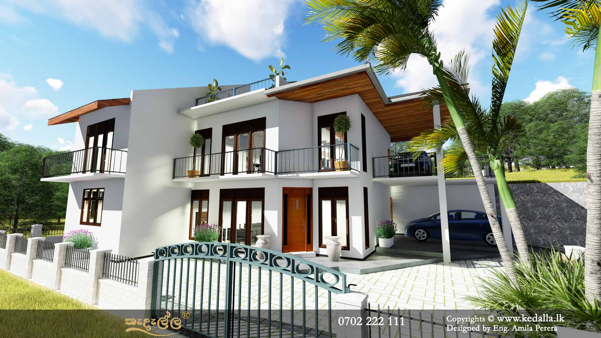 House Plans in Sri Lanka Two Story|3D Home Plans|Kedella